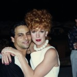 "Russell Bobbitt and Elizabeth Perkins on the set of ""The Flintstones"""