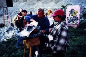 "Russell Bobbitt with Special Effects Supervisor Erik Rylander on ""The Flinstones"""