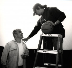 """Property Master Russell Bobbitt and Director Gary Ross on the set of """"Pleasantville"""""""