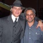 Russell with Matt Damon