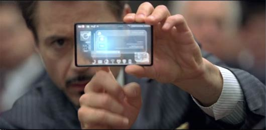 Tony Stark glass LG cell phone